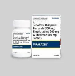 Virarazer-Tenofovir Disoproxil Fumarate 300 mg,Emitricitabine 200mg & Efavirenz 600 mg TabletsIP