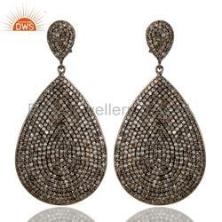 Pave Diamond Earrings Jewelry