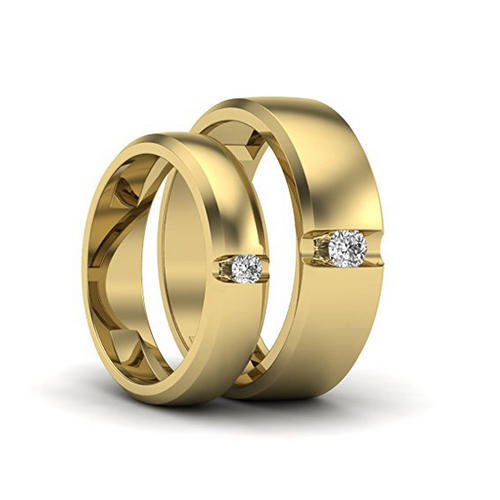 Couple Designer Rings Designer Gold Couple Band