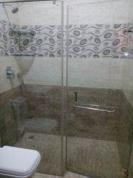 Breaking Shower Cubicle Glass