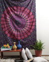 Pink Purple Mandala Tapestry