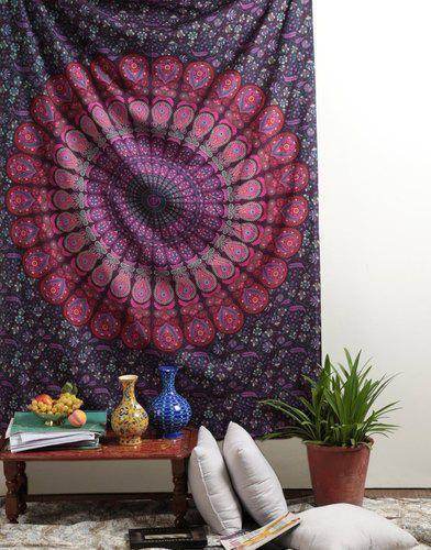 Peacock Bohemian Wall Hanging Mandala Tapestry
