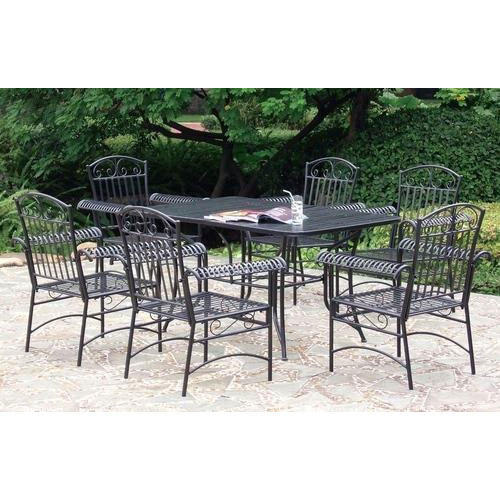 Garden Furniture Wrought Iron Garden Dining Table Manufacturer