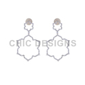 Designer Floral Earrings