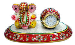 Marble Gold Painting Ganesh with Watch