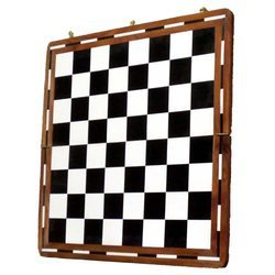 Wooden Black & White Chess Board