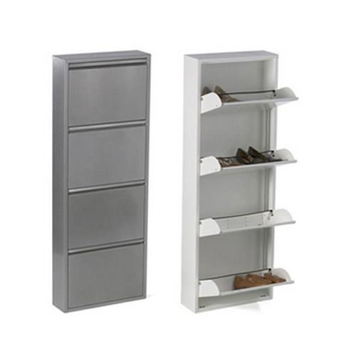 Wall Mounted Metal Shoe Rack   3 Door Shoe Rack Manufacturer From Faridabad