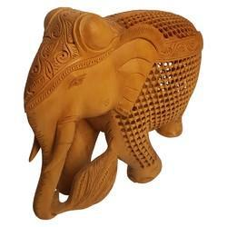 Wooden Carving Jali Elephant