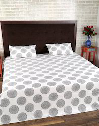 Hand Block Printed Double Bed Jaipuri Bed Sheet With Pillow Cover