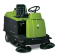 Small Ride On Battery Operated Industrial Sweeper Machine