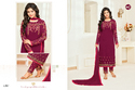 Magenta Georgette Heavy Embroidered Women's Salwar Suit