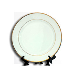 Golden Rim Plate 10 inch