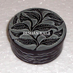 Soapstone Carved Pill Box
