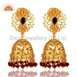 Pave Diamond Birthstone Earrings