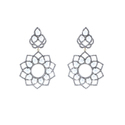 Pearl Diamond Floral Earrings