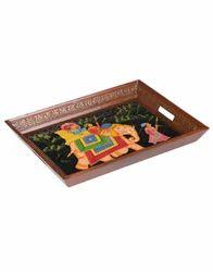 Elephant Hand Painted Table Decorative Tray