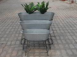 Galvanized Garden Planter.