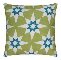 Star Print Cotton Cushion