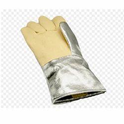 Aluminised Kevlar Mitten Hand Gloves