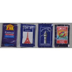 Ultramarine Blue Plastic Sachets