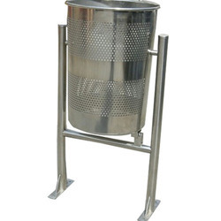 Stainless Steel Pole Dustbin