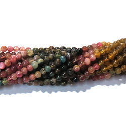 Multi Tourmaline  Smooth Gemstone Beads