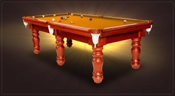 Billiard Table In 6 Legs