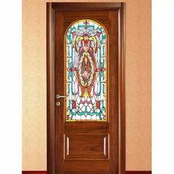 glass door designs balcony printed glass wooden door modern manufacturer from faridabad