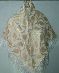 Brocade Triangle & Square Head Scarves With Fringes