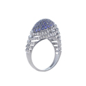 Blue Sapphire Dome Ring