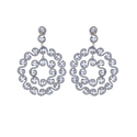 Round Filigree Diamond Earrings