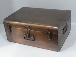 Galvanized Trunk with Copper Antique.