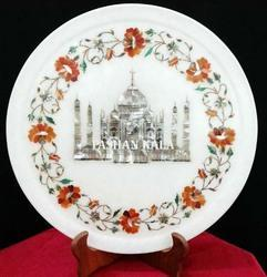 Marble Stone Plates with Inlay Art Work