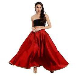 Ira-Soleil-Long-Flared-Skirt