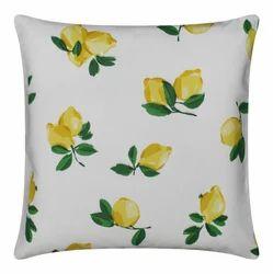 Lemon Print Cushion
