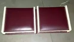 Pu leather wooden box