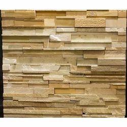 Teak Strip Pattern Wall Cladding