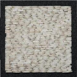 White marble Strip Pattern Wall Cladding