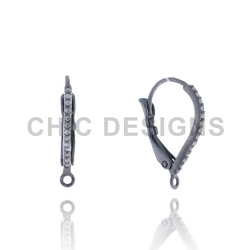 Pave Diamond Ear Wire Findings