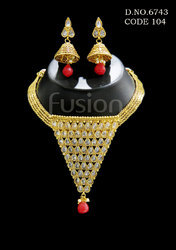 Traditional Polki Indian Necklace Set
