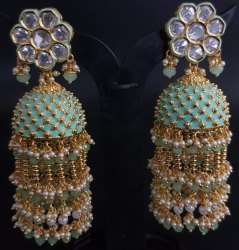 Antique Mint Ear Rings