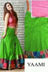 Fancy Designer Party Wear Green Lehenga Choli