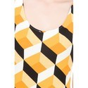 Black And Yellow One Piece Dress