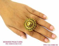 Beautiful Golden Antique Finger Ring