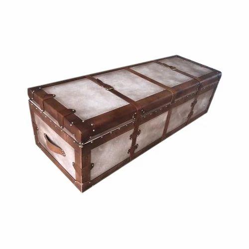 8cd698d37172 Trunk Box - Rectangular Leather Trunk Box Manufacturer from Jodhpur