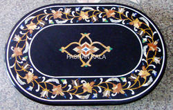 Black Marble Inlay Table