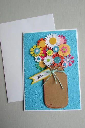 Handmade cards flower greeting card manufacturer from firozabad flower greeting card m4hsunfo