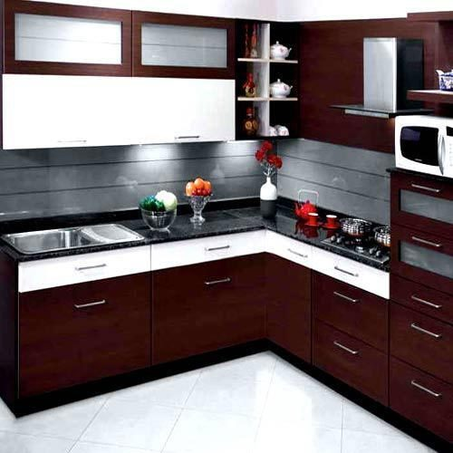 L Wooden Modular Kitchen Manufacturer From Bengaluru