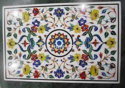 Semi Precious Stone Inlaid Table Top