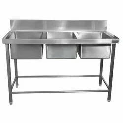 Three Sink Dish Wash Unit